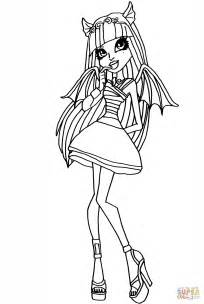 monster high rochelle coloring page free printable