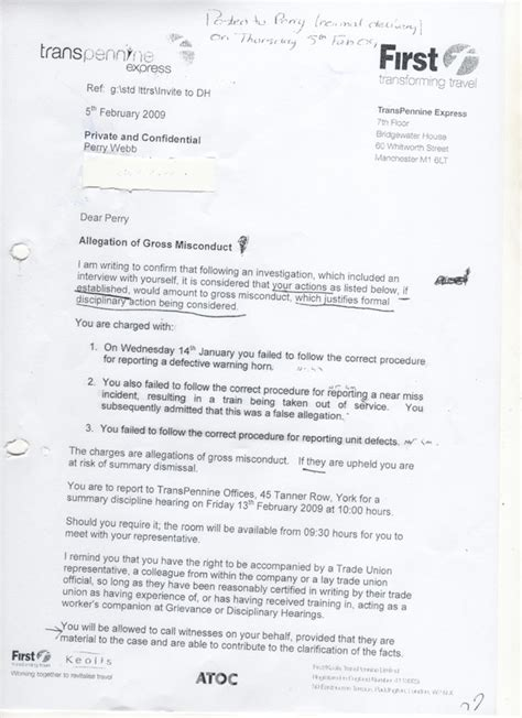 disciplinary report sle gross misconduct letter template 28 images sle warning