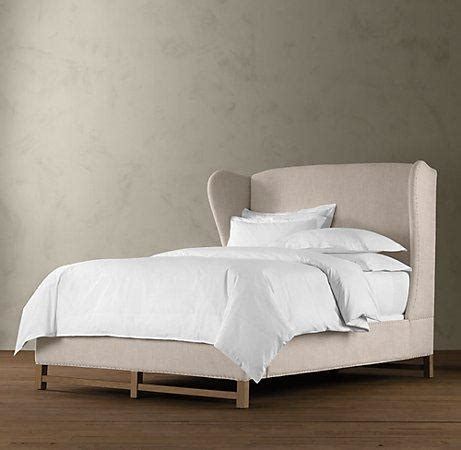 restoration hardware upholstered bed french wing upholstered framed bed beds restoration hardware