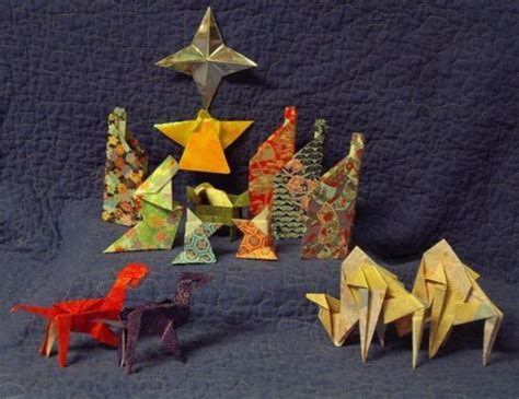 Origami Nativity Set - 15 japanese origami nativity set