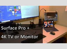 Surface Quick Tip: Using the Surface Pro with a 4K TV ... Hdmi Cable To Tv Setup