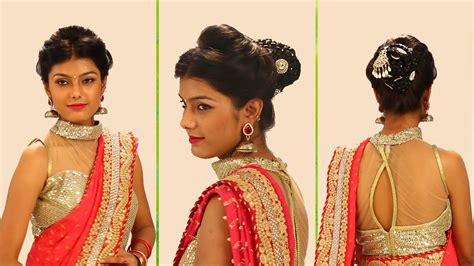 Bridal Bun Hairstyles Step By Step by Indian Bridal Hairstyles Step By Step Simple Bridal