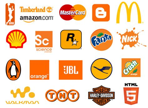 top 20 famous logos designed in orange