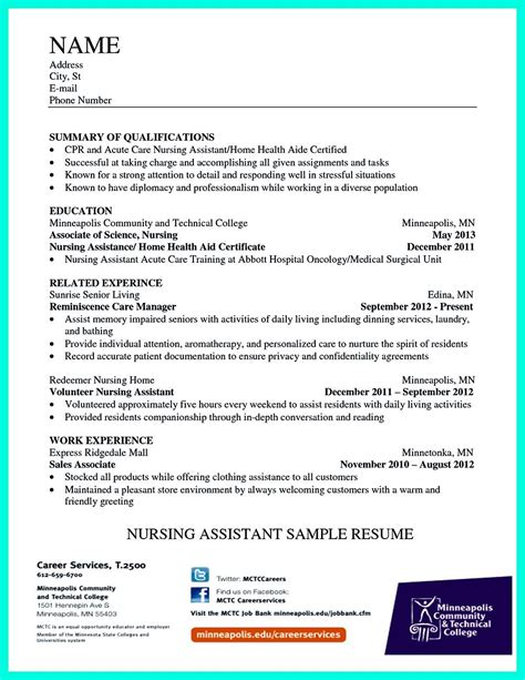 writing certified nursing assistant resume is simple if