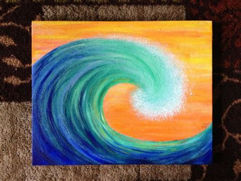 watered acrylic paint on canvas blue water wave acrylic painting on canvas by elo