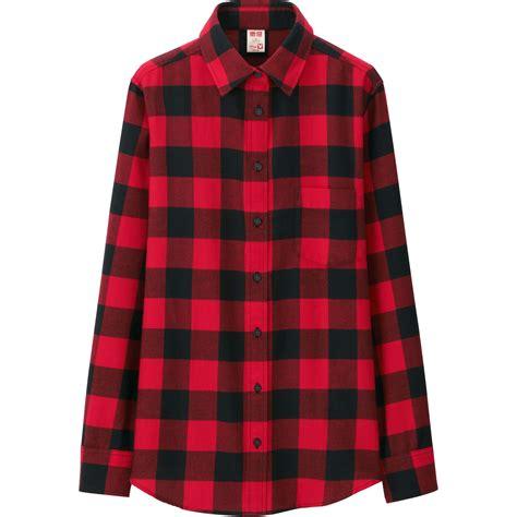 Uniqlo Flannel Shirt uniqlo disney project flannel sleeve shirt in lyst