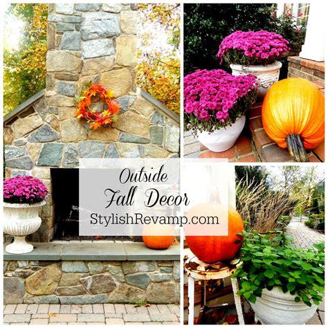 fall decor outside fall home tour stylish rev
