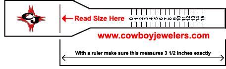 printable ring sizing tool cowboyjewelers com ring size tool