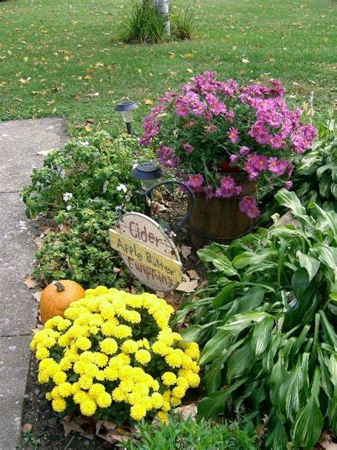 fall flower bed house ideas pinterest