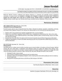 Mortgage Loan Officer Sle Resume by Exle Mortgage Broker Resume Free Sle
