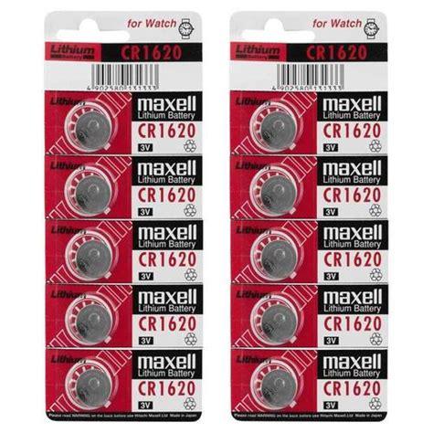 Baterai Maxell Cr1620 Cr 1620 10pk new maxell cr1620 3v 80mah lithium battery