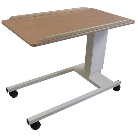 height adjustable assisted lift overbedchair table nrs healthcare