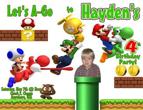 Super Mario Birthday Invitations Bagvania Free Printable Invitation Template Mario Bros Birthday Invitation Templates