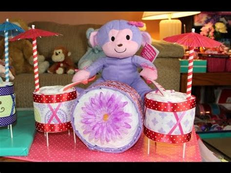 Diaper cake drum set how to make