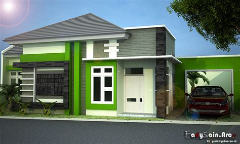 design 3d rumah modern minimalis brown black uniqx template