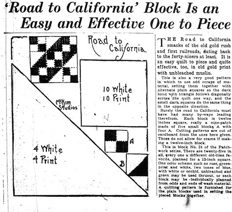 quilt pattern road to california quilt patterns the archive