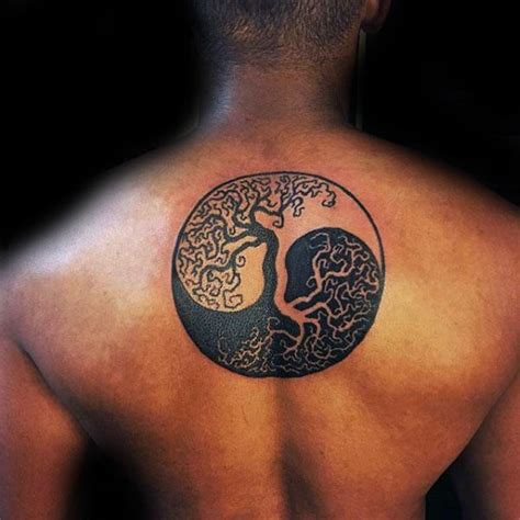yin yang tattoo for men 100 tree of designs for manly ink ideas