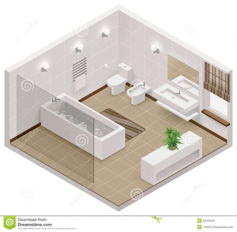 Interactive Kitchen Design Tool vector isometric bathroom icon royalty free stock
