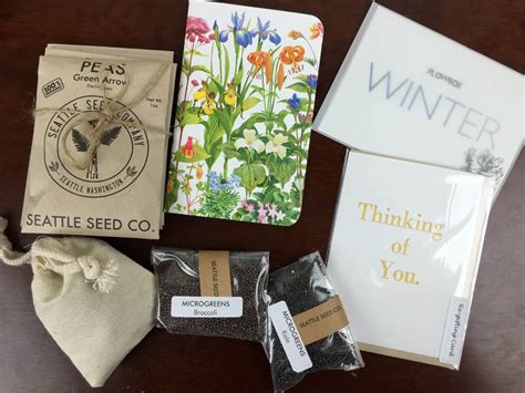 Gardening Subscription Box by Plowbox Winter 2015 Gardening Subscription Box Review