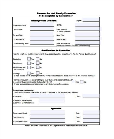 promotion template sle employee promotion forms 9 free documents in