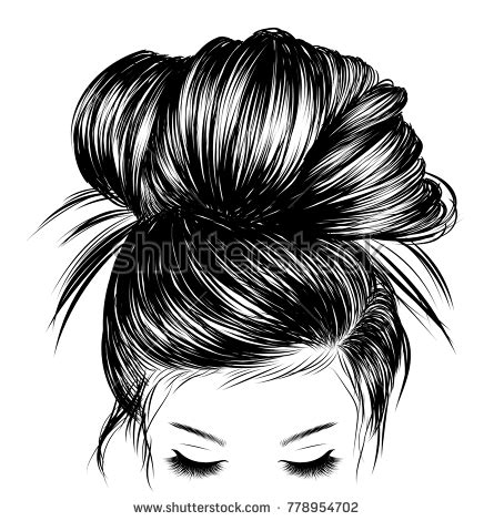 cute hairstyles vector updos stock images royalty free images vectors
