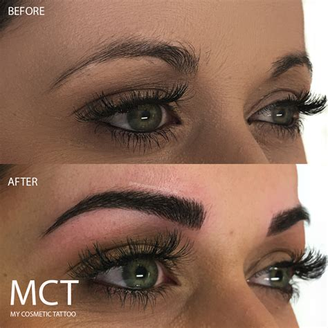 tattooed eyebrows before and after 3d eyebrow before and after www imgkid the