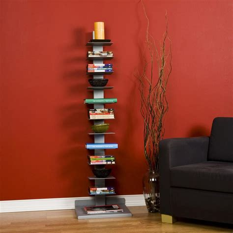 Vertical Bookshelves Sei Metal Spine Style Book Tower Bookcases