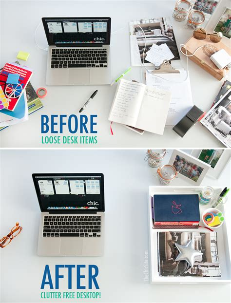 organize your desk the chic site