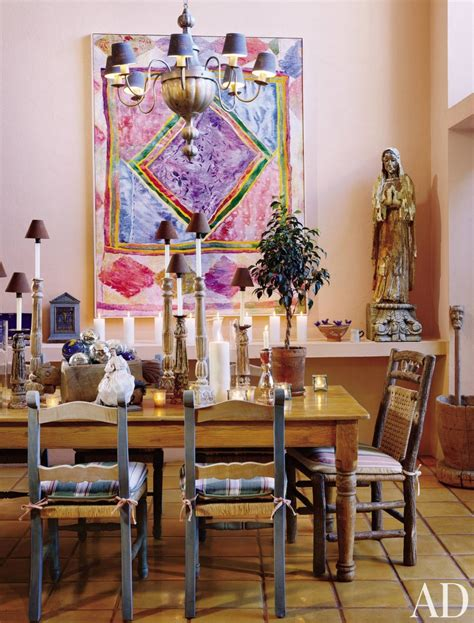 Mexican Dining Room by Dining Room By Bowman Ad Designfile Home Decorating Photos Architectural Digest