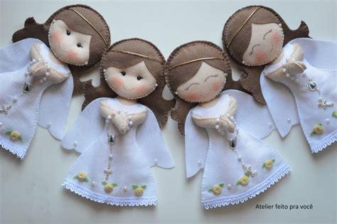 pattern felt angel encomenda da mam 227 e erica para a 1a eucaristia da filha ca