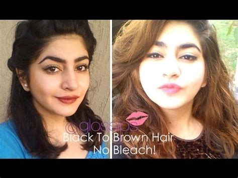 black to brown hair without bleaching how i did it youtube