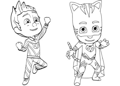 pj masks characters coloring pages pajama hero connor is catboy from pj masks coloring page