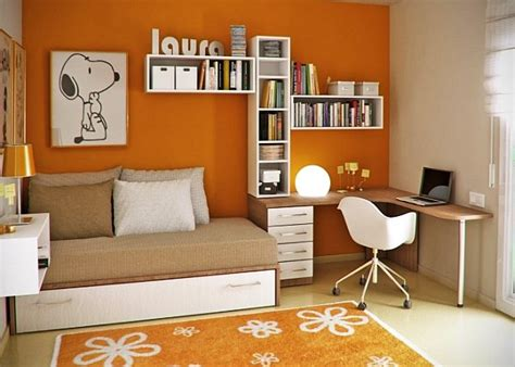 orange and white bedroom young childs room orange walls white and wooden accents
