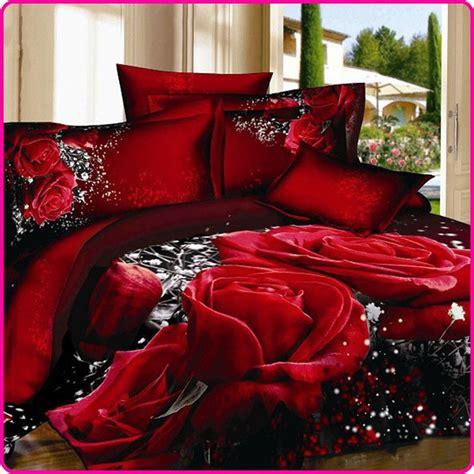 Bed Cover Wedding Import 3 3d unique wedding bedclothes size 4pcs