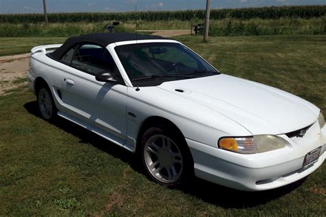 1996 convertible mustang white 1996 ford mustang gt convertible