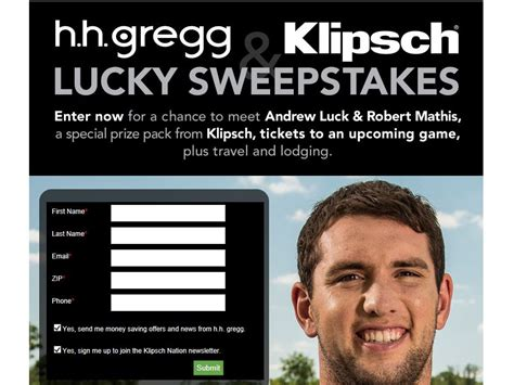 Sweepstakes Lucky - klipsch lucky sweepstakes