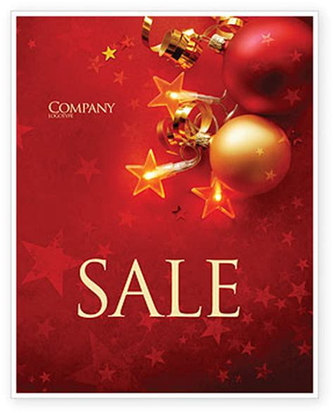 templates for christmas posters red christmas theme sale poster template in microsoft word