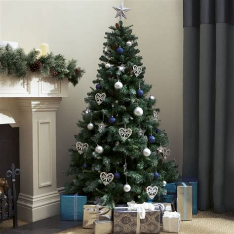 tesco 6ft pine christmas tree with cones and glitter 163 50