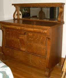 antique dining room buffet antique empire tiger oak dining room server buffet sideboard with mirror ebay