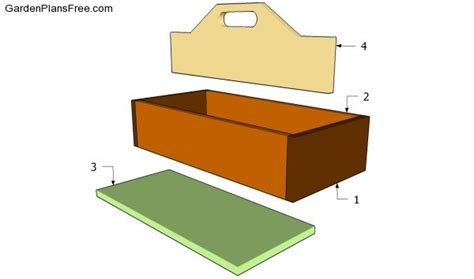 How To Make A Tool Box Out Of Paper - wood tool box plans free garden plans how to build