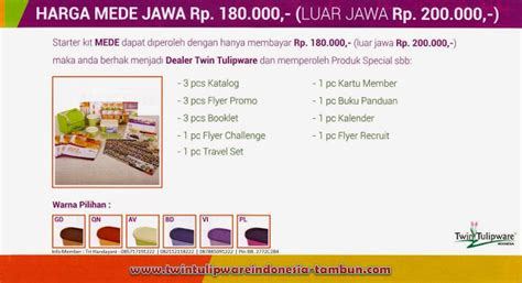 Make Everyday Exciting Mede Tulipware daftar member tulipware paket member tulipware ekonomis