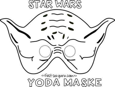 yoda ears template printable yoda mask template for free print out