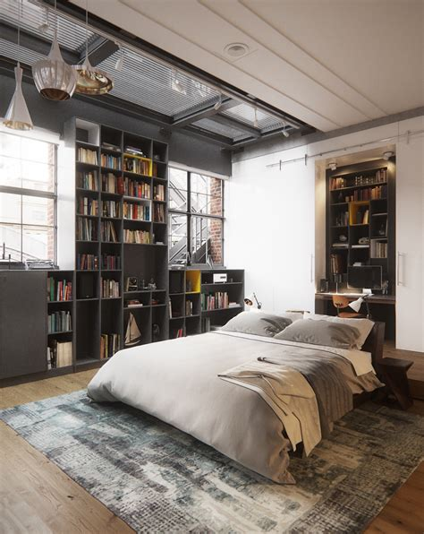 loft style bedroom 2 chic and cozy cosmopolitan lofts