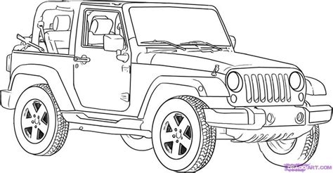 cartoon jeep drawings how to draw a jeep wrangler http www dragoart com tuts