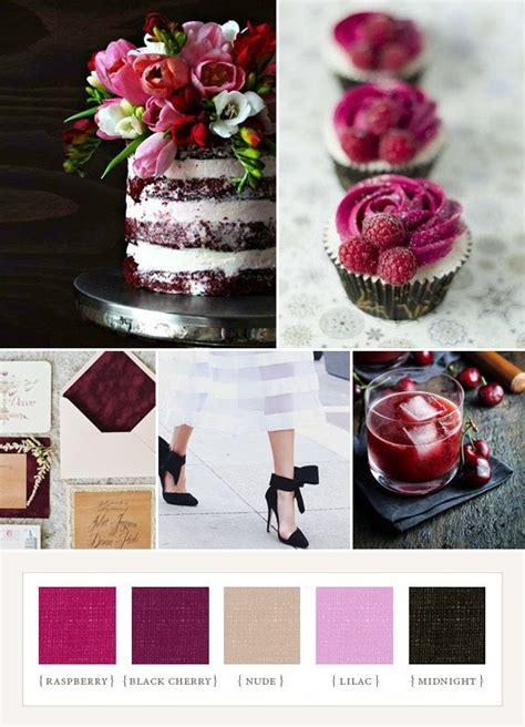 inspiration quot berry noir quot board wedding inspiration