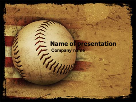 american baseball presentation template for powerpoint and