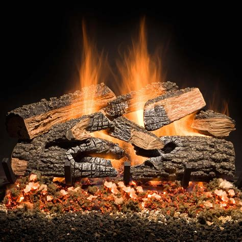 golden blount 18 inch split bonfire charred vented gas log