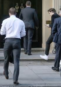 by frances kindon for mailonline david beckham flower david beckham and brooklyn go to members club in london