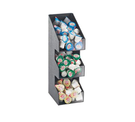 5 11 Paket Black cal mil 2053 3 tier classic condiment packet display black
