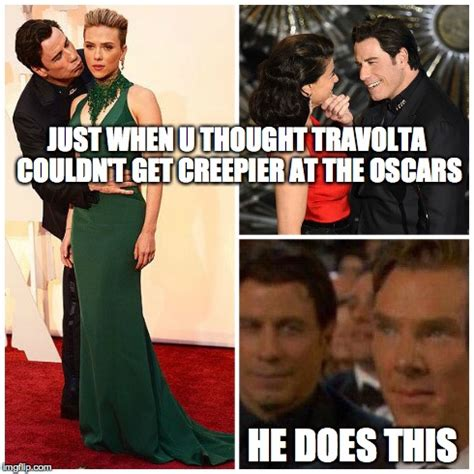 creepy travolta imgflip